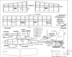 Skionn-631 model airplane plan
