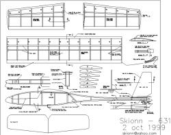 Skionn-631 model airplane plan