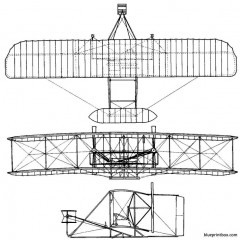 1903 wright flyer 01 model airplane plan
