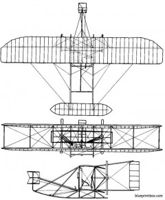 1905 wright flyer 03 model airplane plan