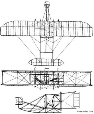 1905 wright flyer 03 model airplane plan