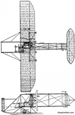 1912 wright model c model airplane plan