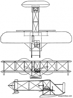 1913 wright model ch model airplane plan