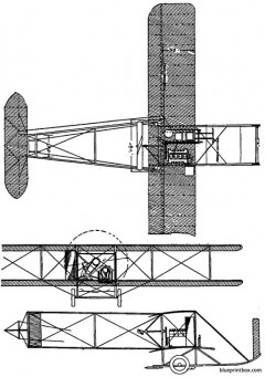 1913 wright model e model airplane plan