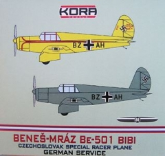 Benes Mraz Be 501 model airplane plan