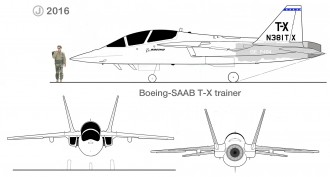 Boeing-SAAB T-X Advanced USAF Trainer model airplane plan