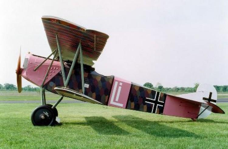 Fokker D VII model airplane plan