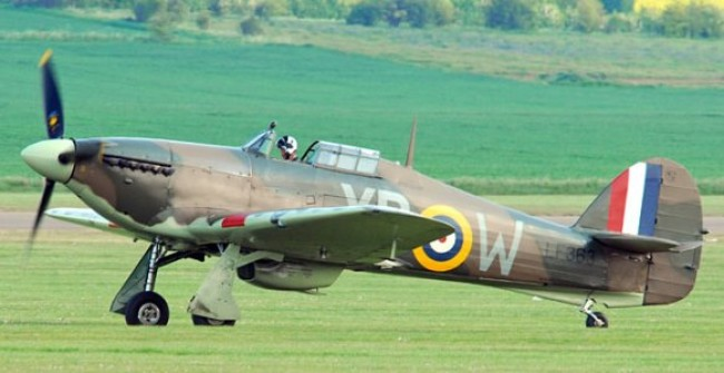 Hawker Hurricane 11C model airplane plan