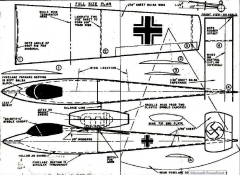 Heinkel 162 Jetex. model airplane plan