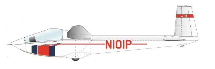 Peterson J-4 Javelin model airplane plan