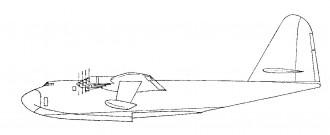 Spruce Goose model airplane plan