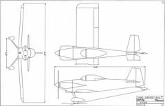 Van's RV-3B model airplane plan