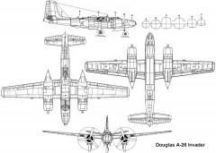 a26invader 3v model airplane plan