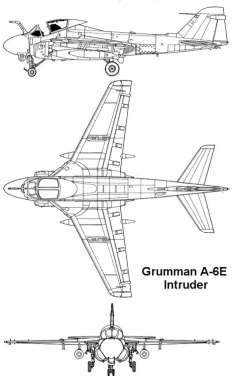 a6e 2 3v model airplane plan