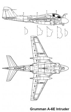a6e intruder model airplane plan