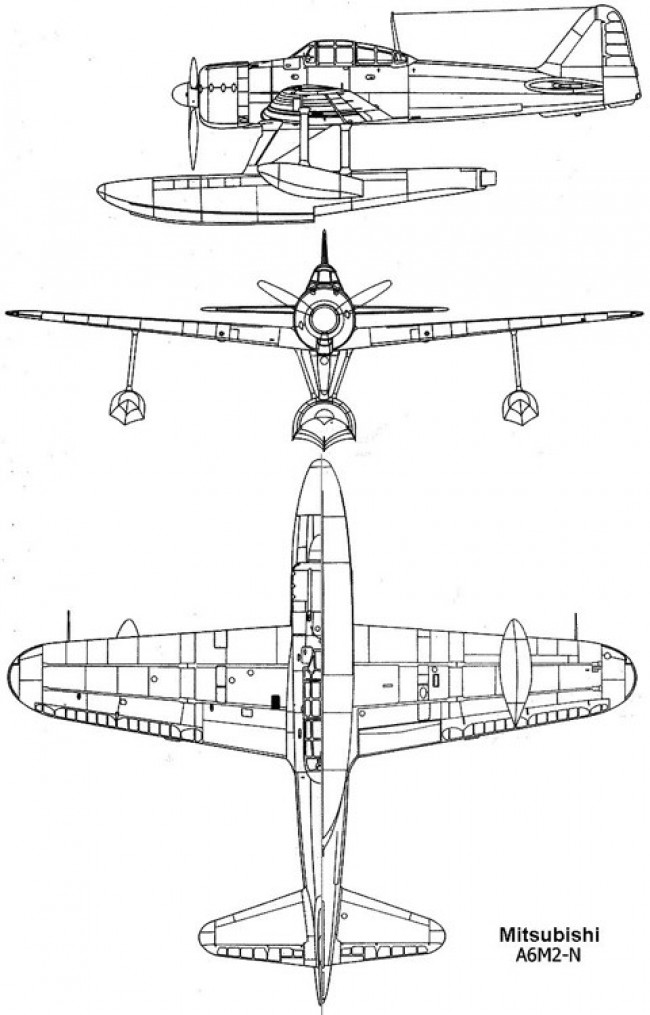 a6m2n 3v model airplane plan