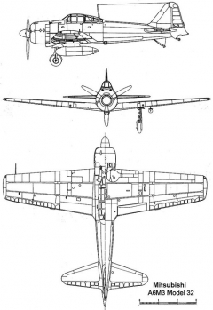 a6m3 32 3v model airplane plan