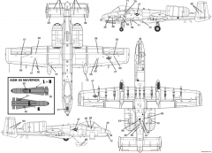 a 10 warthog 1 model airplane plan