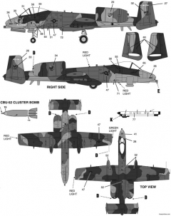 a 10 warthog 2 model airplane plan