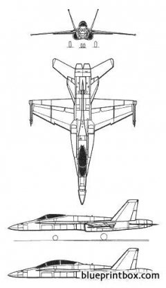 a 18 super hornet model airplane plan