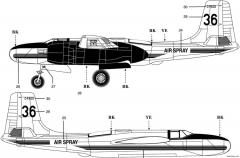 a 26b invader 2 model airplane plan