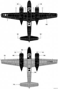a 26b invader 3 model airplane plan