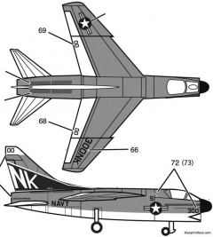 a 7 corsair ii model airplane plan