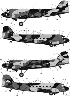 ac 47 vietnam gunship model airplane plan