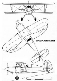 acroduster 3v model airplane plan