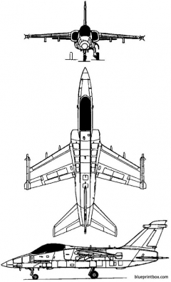 aeritalia aermacchi embraer amx 1988 model airplane plan
