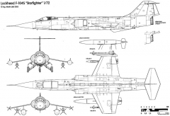 aeritalia lockheed f 104s starfighter 2 model airplane plan
