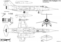 aeritalia lockheed f 104s starfighter 3 model airplane plan