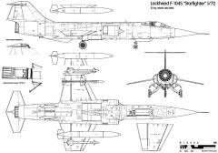aeritalia lockheed f 104s starfighter 4 model airplane plan