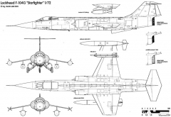aeritalia lockheed f 104s starfighter 5 model airplane plan