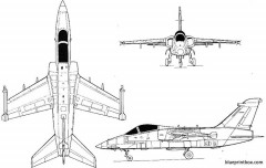 aermacchi amx model airplane plan