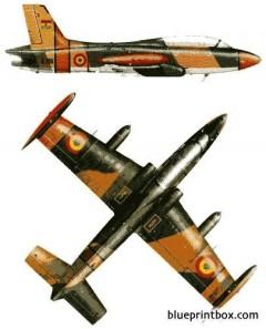 aermacchi mb326f model airplane plan