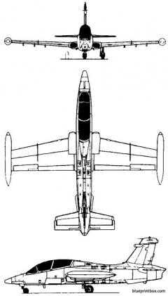 aermacchi mb339 1976 italy model airplane plan