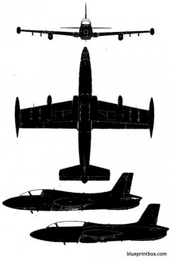 aermacchi mb 326 model airplane plan