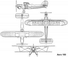 aero100 3v model airplane plan
