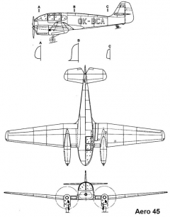 aero45 3v model airplane plan