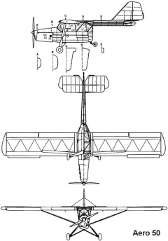 aero50 3v model airplane plan