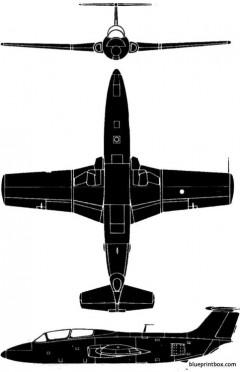 aero vodochody l 29 delfin model airplane plan