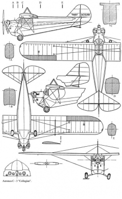 aeronca C 3 model airplane plan