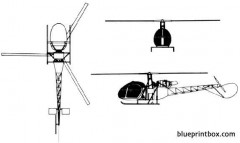 aerospatiale alouette ii model airplane plan