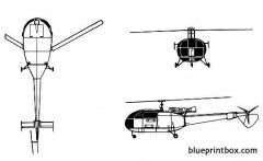 aerospatiale alouette iii 02 model airplane plan
