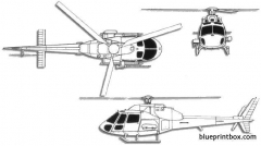 aerospatiale as350 ecureuil model airplane plan