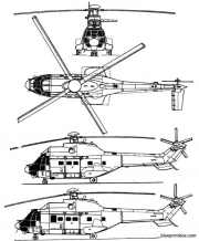 aerospatiale as 332 super puma model airplane plan