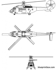aerospatiale as 532 cougar model airplane plan