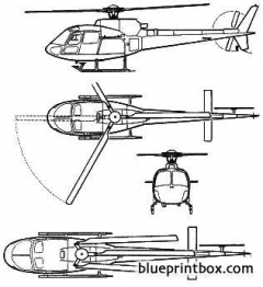 aerospatiale as 550 fennec model airplane plan
