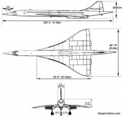 aerospatiale bac concorde 1 model airplane plan